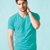 Premium Short Sleeve Fitted V-Neck T-Shirt