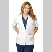 "28"" WOMEN'S LAB COAT SHORT SLEEVE"