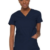 Women's EDS Signature Mock Wrap Scrub Top