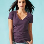 Ladies' CVC V-Neck T-Shirt