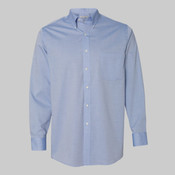Long Sleeve Resin Finish Oxford Shirt