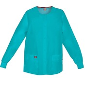 Women's EDS Signature Snap Front Warm-Up Scrub Jacket
