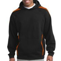 Sleeve Stripe Pullover Hooded Sweatshirt Thumbnail